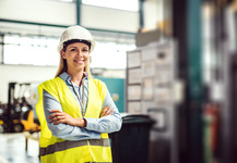 Female Engineer Hi Vis