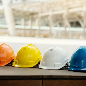 Four Colourful Hard Hats